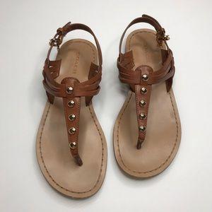 Coach Cognac Sandals